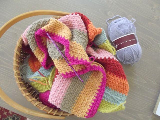 Crochet Linen Stitch : linen stitch blanket