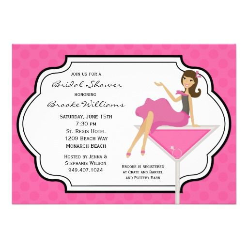 Cocktail Bridal Shower Invitation you will get best price offer lowest ...