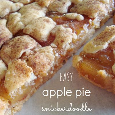 Apple Pie Snickerdoodle Cookie Bars would be delish served warm with ice cream!