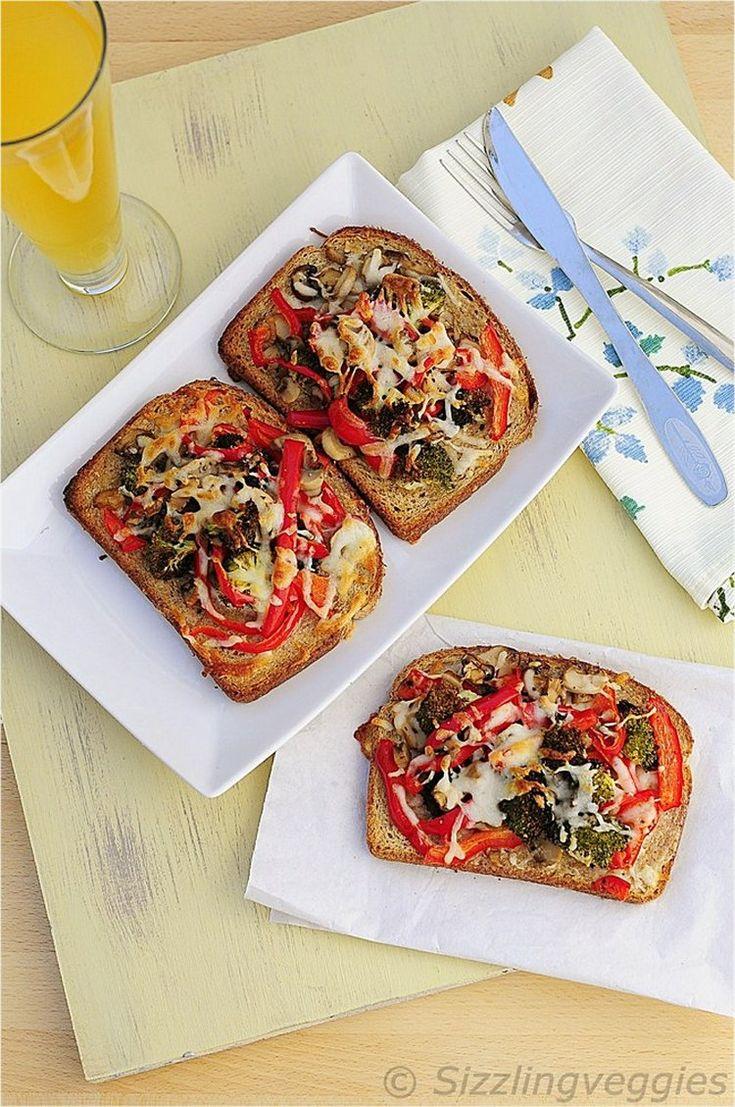 broccoli mushroom bell pepper melts | Yummy | Pinterest