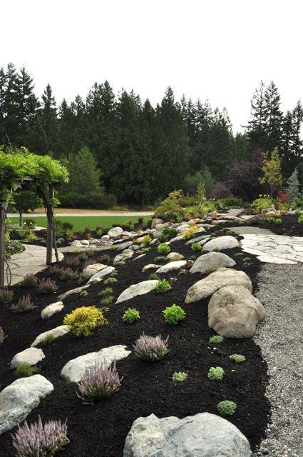 Hillside rock garden garden and home exterior pinterest for Hillside rock garden designs