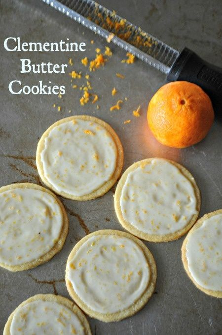 Clementine Butter Cookies with Grand Marnier Glaze.