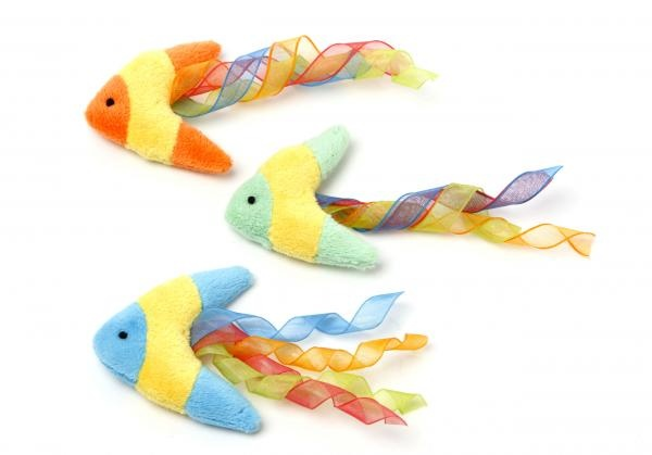Boomerang fish cansiter multipet pet products for Fish dog toy