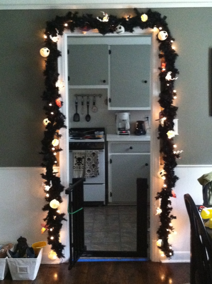 My Nightmare Before Christmas garland in my dining room.