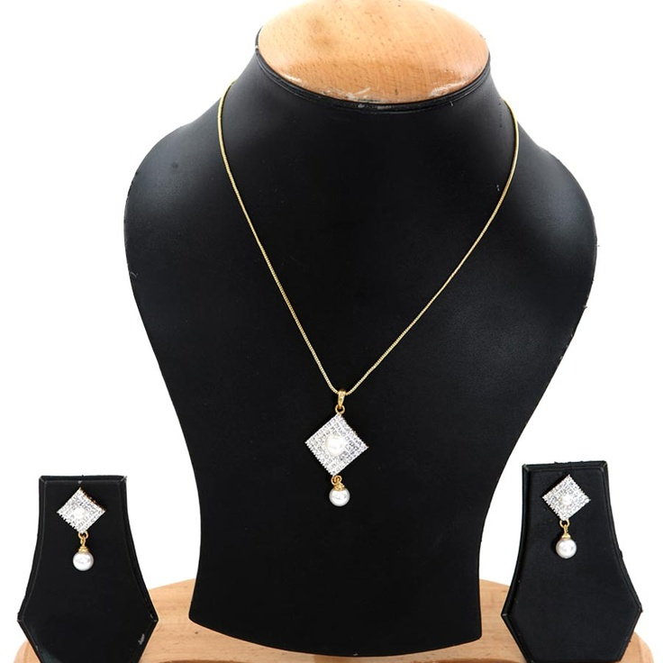 Oleva Pearl Pendant Set with Earrings. Grab this at an amazing bargain