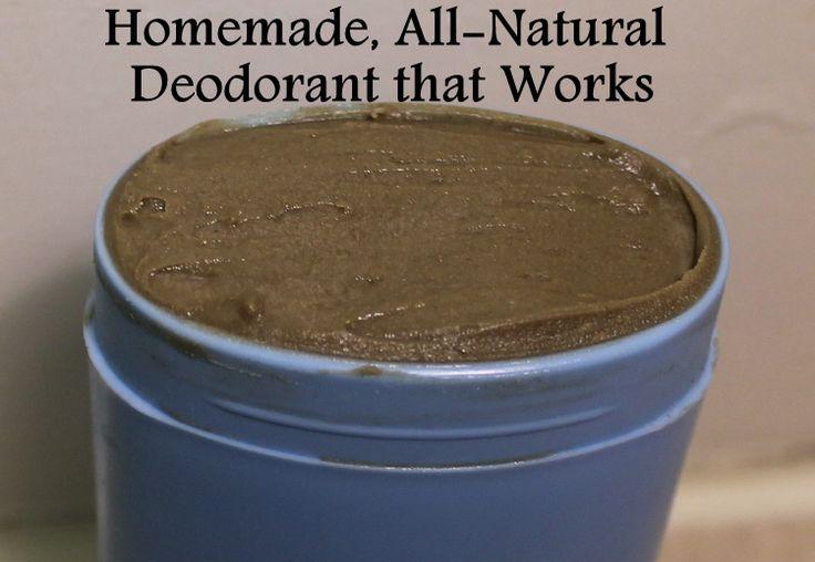 All natural homemade natural deodorant recipe with bentonite clay - Homemade deodorant recipes ...