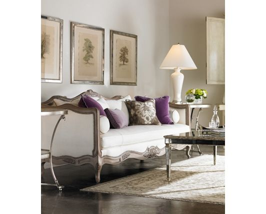 Elegant Living Room With Purple Accents Living Room Pinterest