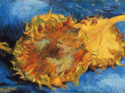 Van Gogh - Two Cut Sunflowers