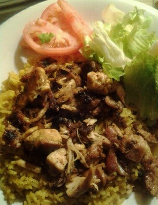 Halal Cart-Style Chicken and Rice with White Sauce | Recipe