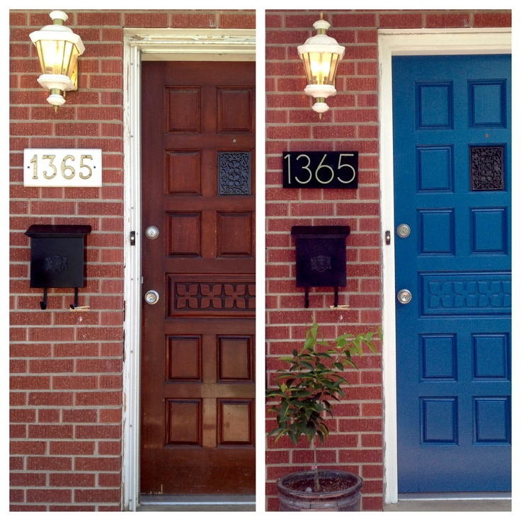 Pin by ann showers on for the home pinterest for Modern house numbers home depot