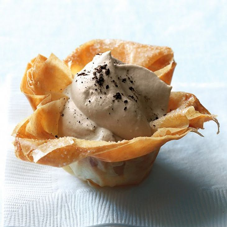 Phyllo Cups with Cappuccino Cream   Yummy Recipe Keeper   Pinterest
