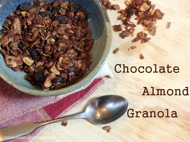 ... almond cake with almond cherry caramel glaze chocolate chip granola