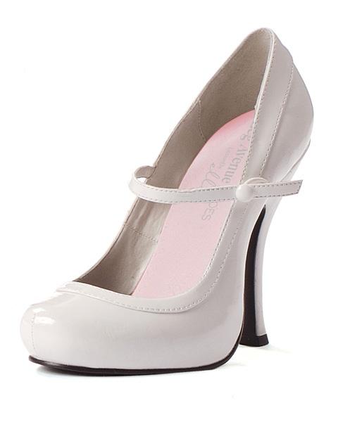 Sexy white patent mary jane shoe