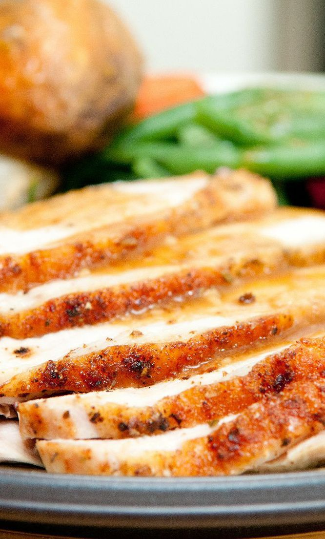Herb-Roasted Turkey Breast Recipe | turkey | Pinterest