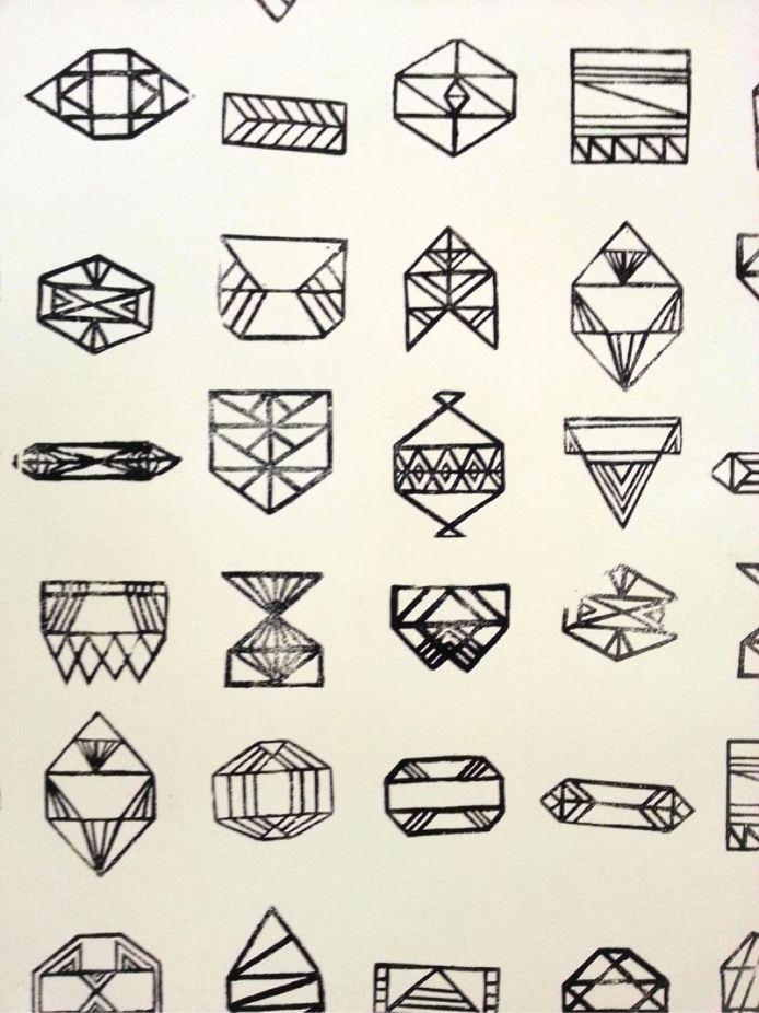 Эскиз тату геометрические фигуры