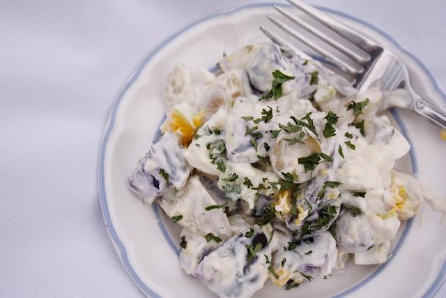 Purple Potato Salad | recipes to try | Pinterest