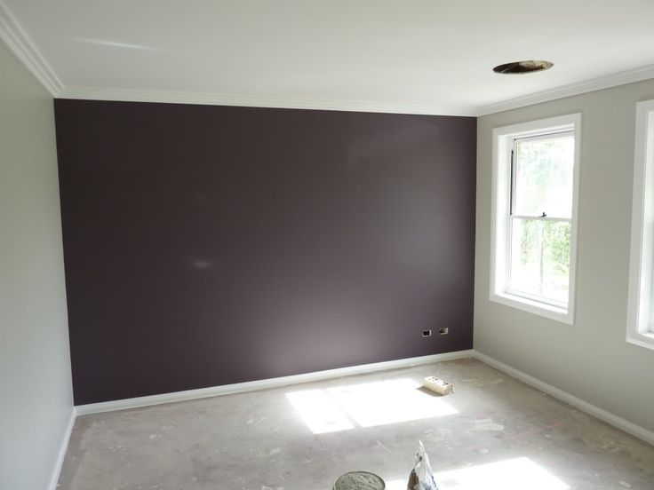 Grey purple guest bedroom for the home pinterest for Purple feature wallpaper living room