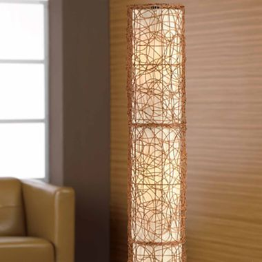 Studiotm wicker floor lamp jcpenney light pinterest for Jcpenney adjustable metal floor lamp by studio