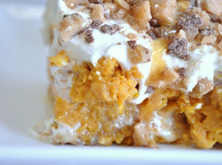 Pumpkin Cake With Yellow Cake Mix And Sweetened Condensed Milk