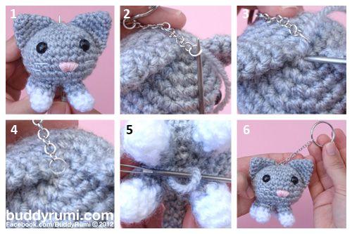 Free Crochet Cat Keychain Pattern : Pin by Christina Eklund on crochet- dolls and toys Pinterest