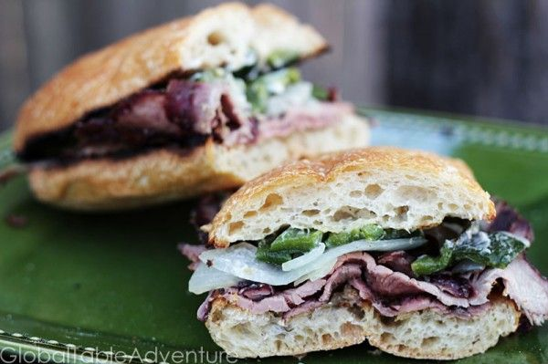 Hickory Smoked Flank Steak Sandwiches (Coupé coupé) | Recipe