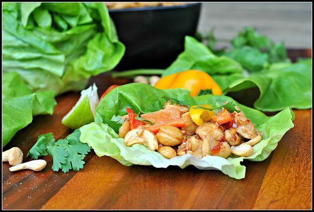 Cashew Chicken Lettuce Wraps 2 by preventionrd, via Flickr