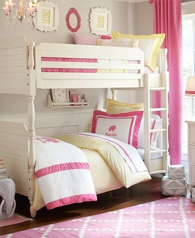 Girly girl bunk beds kids rooms pinterest Bunk beds for girls