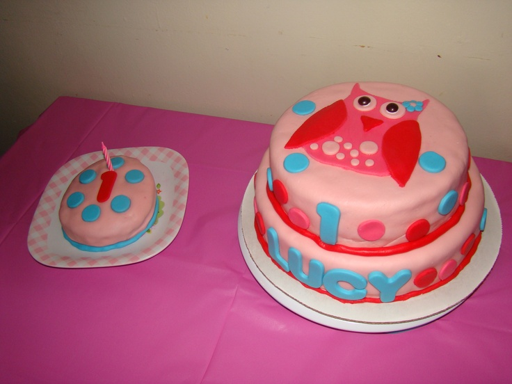 Owl Birthday Cake my sister made :)  Cake Ideas  Pinterest