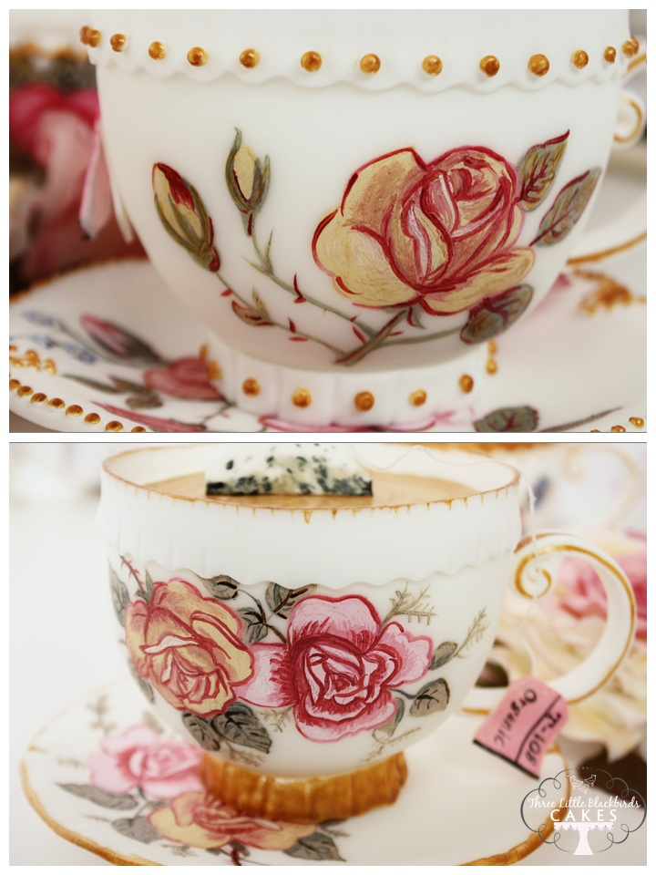 "Edible hand painted mini cakes ""tea cups"""