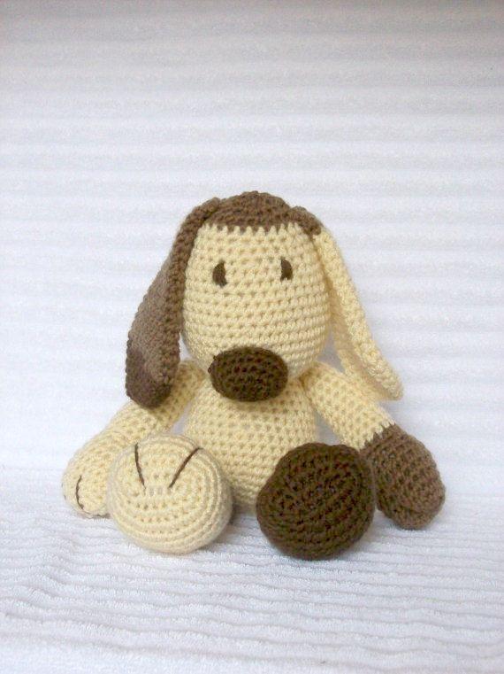 Crochet Animal, Crochet Dog Stuffed Animal, Plush Dog, Crochet Puppy ...