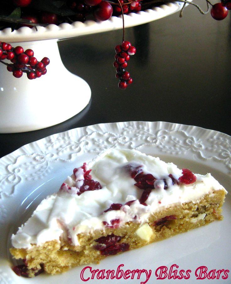 cranberry bliss bar | Holiday Nummies | Pinterest