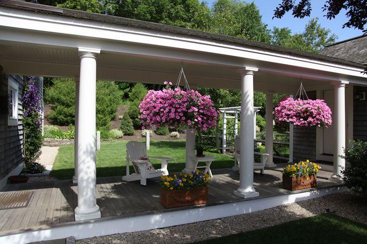 Covered walkway to garage backyard gardening pinterest
