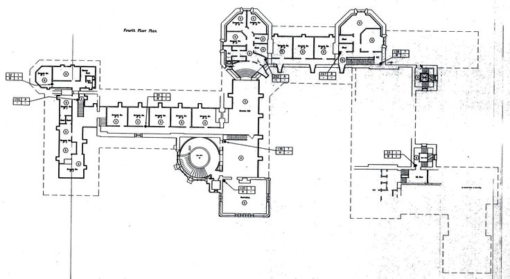 Biltmore Fourth Floor Plan With Lights Labeled Gilded