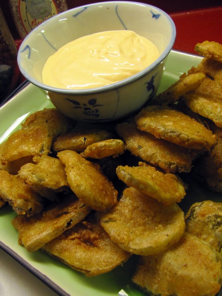 spicy remoulade fried pickles with spicy remoulade fried pickles fried ...