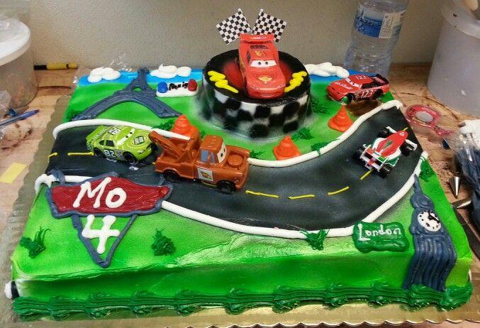 Lightning Mcqueen Sheet Cake Cars 2 themed sheet cake i