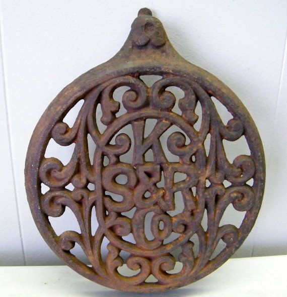 Old Antique Ornate Cast Iron Parlor Wood by beneaththerust, $45.00
