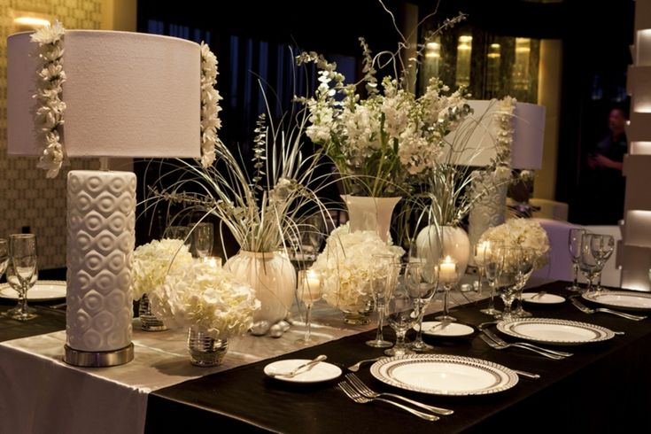 modern chic white tablescape la fete pinterest