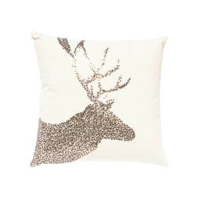 Sequin deer pillow