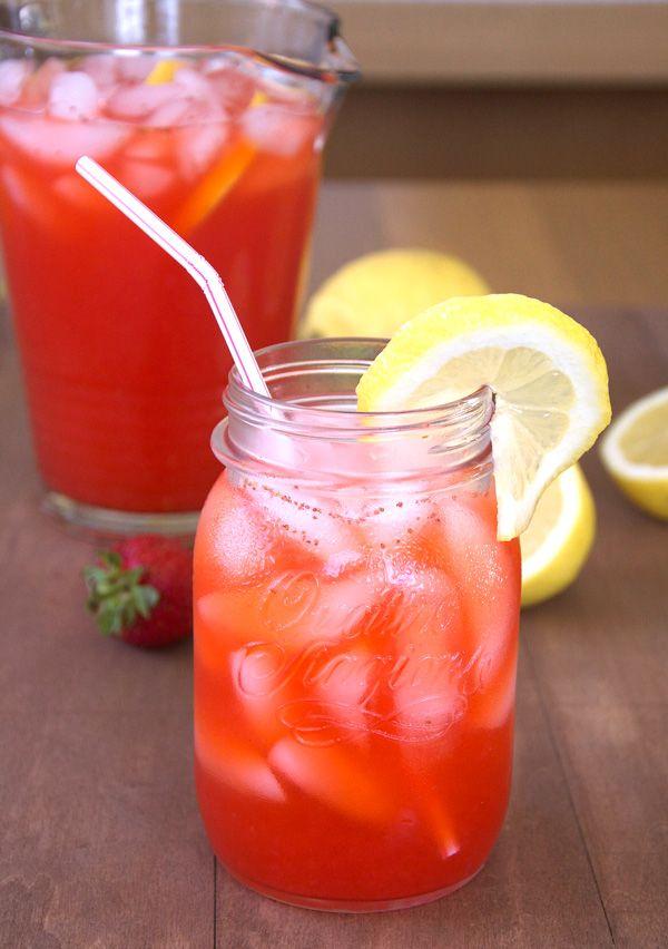 The BEST homemade strawberry lemonade I've ever tasted!!