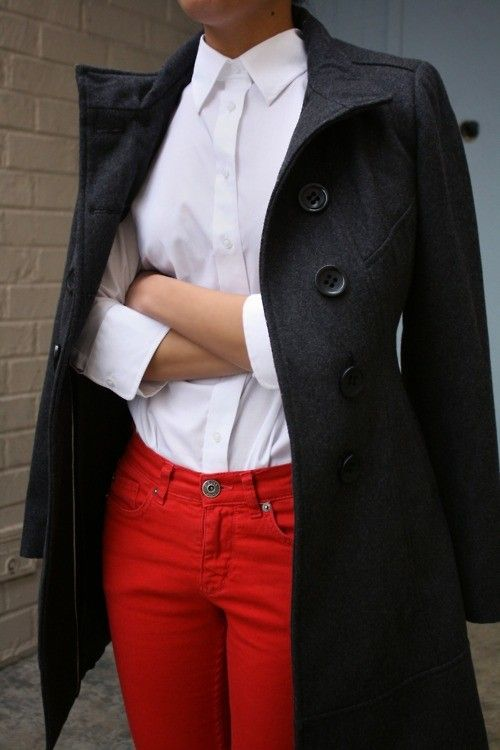 red jeans for fall