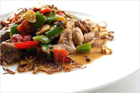 Stir-fried Pork with Cincaluk Recipe (Heh Ya Kay Char Bak): lends a ...