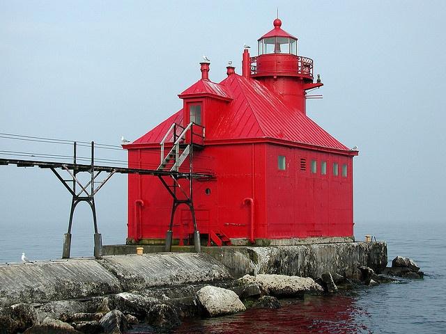 Sturgeon Bay Pier Light Door County Wi Places I Ve