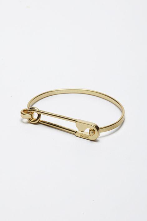 Nohant gold safety pin bracelet outfit ideas pinterest