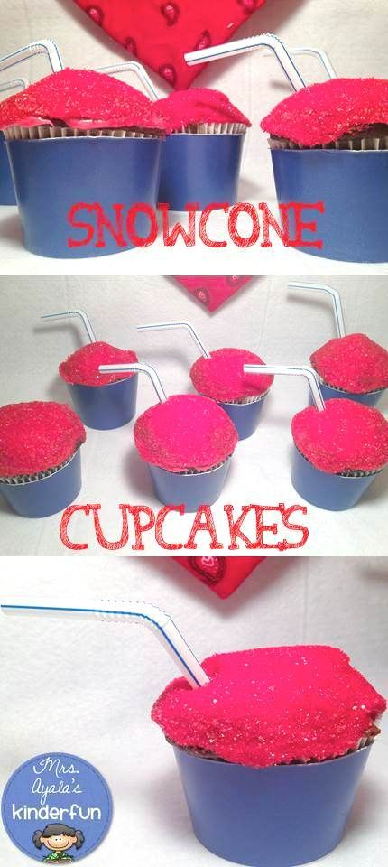 "'Like' to vote for @mrsayala's 4th of July ""snow cone"" cupcakes! Inspired by: http://lovelylittlelife-hannah.blogspot.com/2013/06/things-im-loving-thursday-4th-of-july.html #HSPinParty"