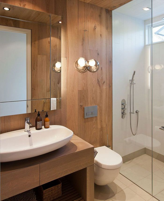 Wood Clad Bathroom Modern Home Pinterest