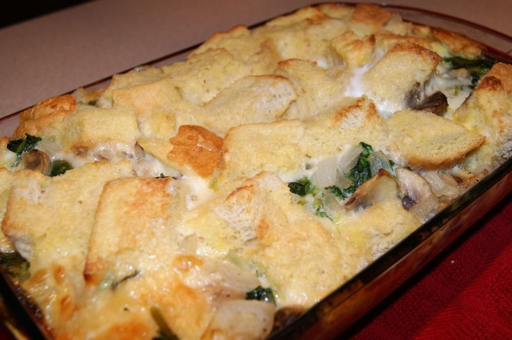 Spinach and Mushroom Strata: Olive Oil 2 cups Mushrooms, Sliced 1 ...