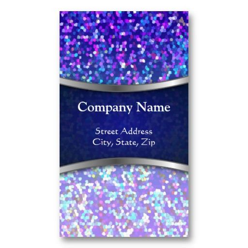 Business Card Glitter Graphic Background