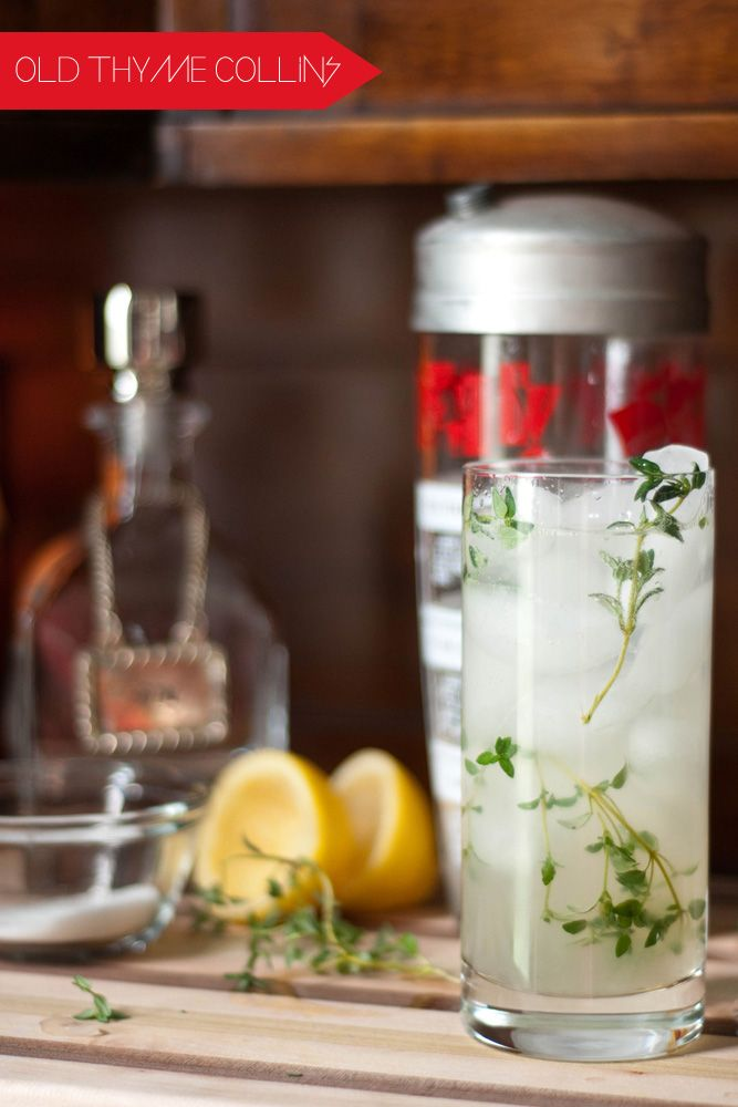 Old Thyme Collins | Food and drink | Pinterest