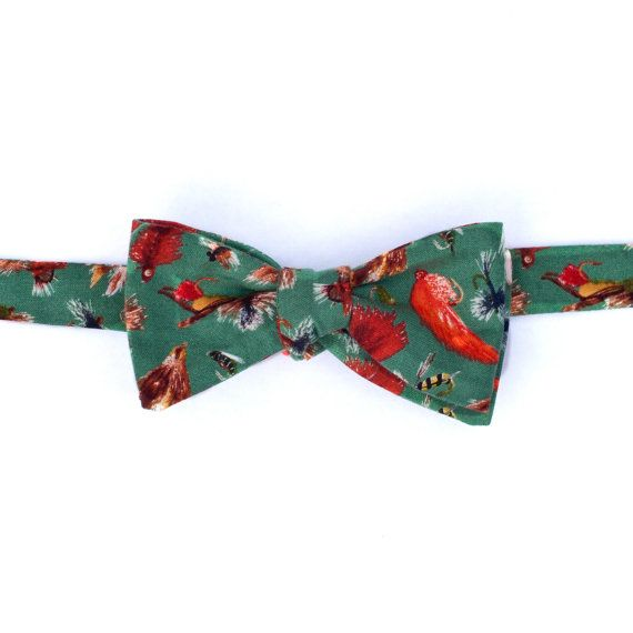 Forest green fly fishing bow tie fly fishing pinterest for Fish bow tie