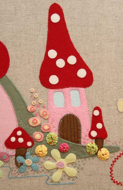 Fairy Garden canvas on linen